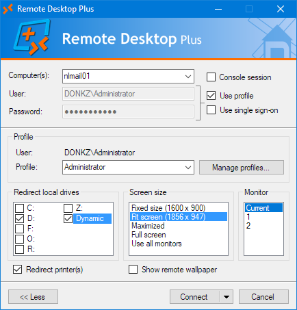 Remote Desktop Plus - DONKZ NL | Remote Desktop Plus